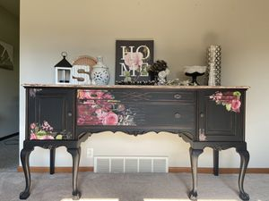 Solid wood antique buffet/sideboard for Sale in Spring Lake, MI