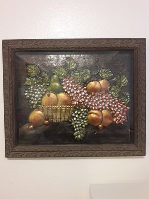 "Beautiful Dining Room Wall Hanging decor, Comes as a set, Fruit design, Dark wood. Quality 24""18 12""8 for Sale in Denver, CO"