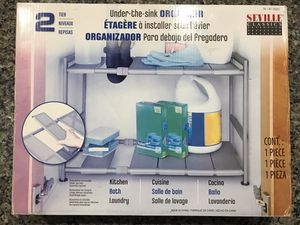 Seville Under-sink or Closet ADJUSTABLE ORGANIZER and Shoe Rack for Sale in San Tan Valley, AZ