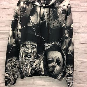 Silk Horror Hoodie - Black And White - Men's Large for Sale in Peach Bottom, PA