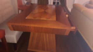 Unique table for sale no chairs a little damage on the top of the table 2 pieces altogether for Sale in Chicago, IL
