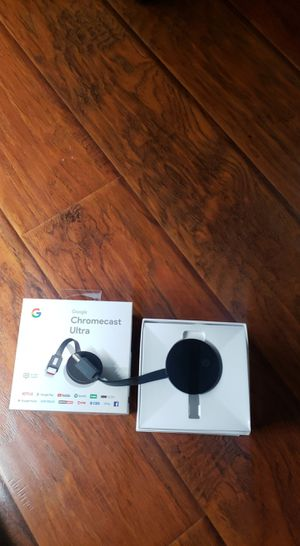 Perfect Condition Chromecast Ultra (4K) for Sale in Santa Ana, CA