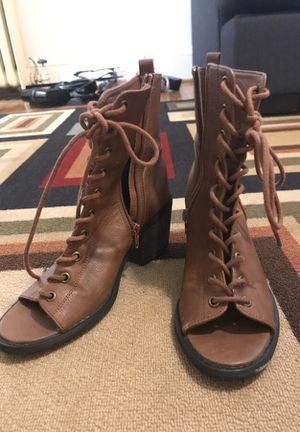 Hipster strapped boots ! Open toe! Size 7.5 for Sale in Portland, OR