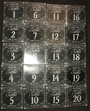 Black Chalkboard Style Table Numbers for Sale in Cardington, OH