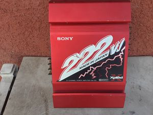 AMPLIFICADOR AMPLIFIER SONY 2 CHANELS GOOD CONDICIÓN ABLO ESPAÑOL for Sale in Stockton, CA