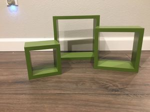 Green wall shelves for Sale in Ontario, CA