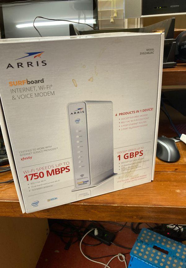 Arris SVG2482AC Comcast compatible modem WiFi