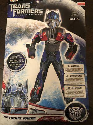 Optimus prime 3D deluxe kids costume for Sale in Poway, CA