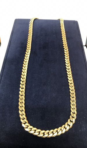 Biggg Boi 💣 Heavy Cuban Miami Link Chain 14 Karat Solid Gold for Sale in Orlando, FL