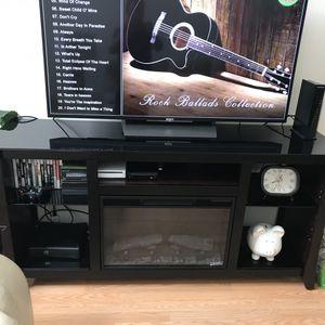 Electric Fireplace TV Stand for Sale in Tacoma, WA