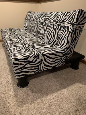 Zebra print futon for Sale in Long Grove, IL