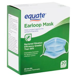 A box of 20 ear loop disposable face masks. Protect yourself from flu, bacteria, dust and pollen for Sale in Seattle, WA