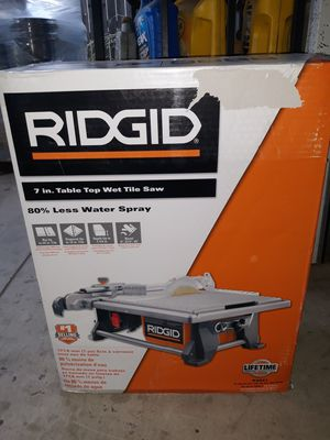 RIDGID Table Top Wet Tile Saw 7in! for Sale in Fontana, CA