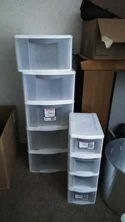 Plastic storage drawers great condition $25 for Sale in Arlington,  TX
