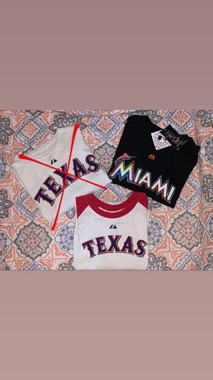 Majestic Baseball Tees for Sale in Arlington, TX
