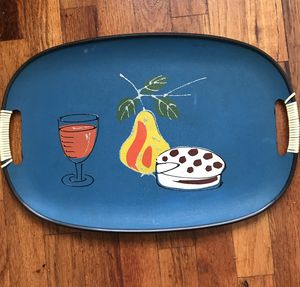 Mid Century Hand painted Tray, Vintage for Sale in Baltimore, MD