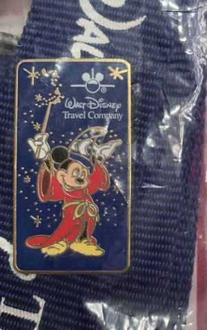 Walt Disney Travel Company Lanyard, Pin and Badge Holder - Never Used for Sale in Chandler, AZ