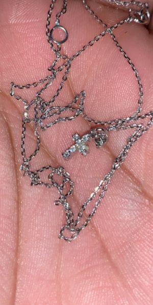Cross silver necklace for Sale in Valdosta, GA