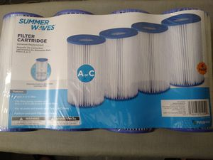 Summer Waves Type A or C Pool Filters - 4 PACK - Universal Replacement for Sale in Pottsville, PA