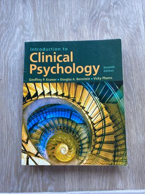 Psychology Book (introduction to Clinical Psychology) for Sale in Tustin, CA