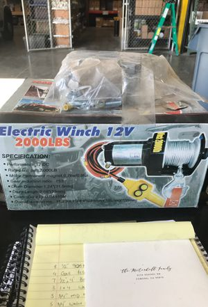 Electric winch 2000lbs with on and off switch for Sale in Corona, CA