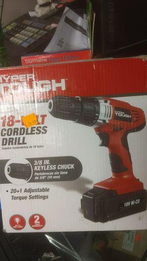 18 v hyper tough drill for Sale in Bristol, RI