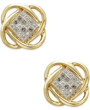 10k gold diamond earrings for Sale in Silver Spring, MD