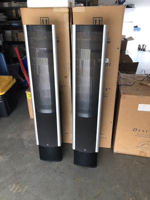 MARTIN LOGAN Clarity Electrostatic Home Theater Speakers. Excellent cosmetic and working condition. Generic power cords. Recommend replacing them wit for Sale in Burleson, TX