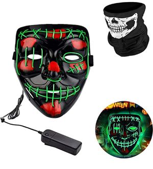 Halloween purge mask blue and green for Sale in Rosemead, CA