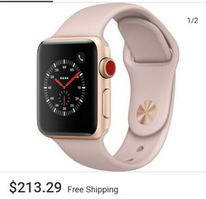 Apple Watch Series 3 - Rose Gold with Pink Sand Sport Band (GPS + Cellular) - for Sale in Denver, CO