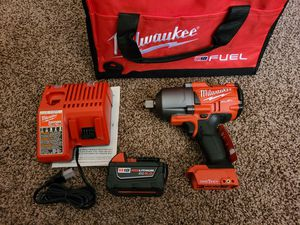Milwaukee M18 FUEL ONE-KEY 18-Volt Lithium-Ion Brushless Cordless 3/4 in. Impact Wrench w/Friction Ring Kit for Sale in Modesto, CA