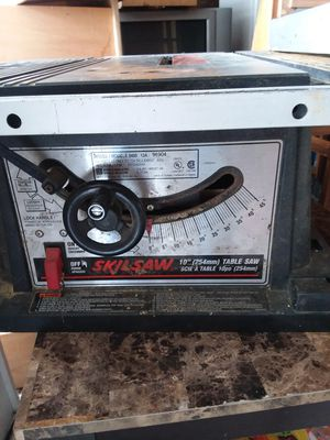 "Skilsaw 10"" table saw. for Sale in Eastpointe, MI"