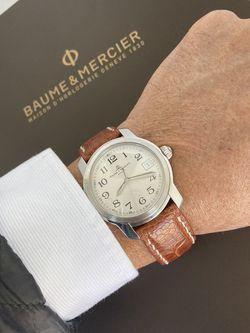 BAUME & MERCIER CAPELAND STEEL QUARTZ KAL.11425 (ETA 955112). Swiss luxury watch manufacturer. 39mm. Stainless steel and water resistant. for Sale in Miami,  FL
