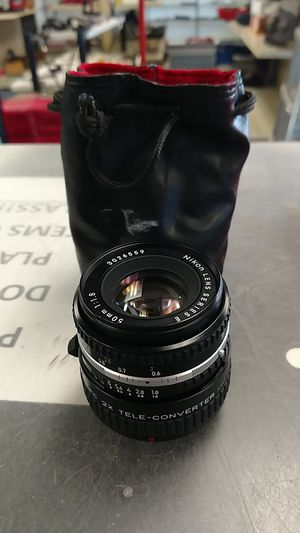 Nikon 50mm E Series Camera Lens w/ 2X Tele-Coverter Lens for Sale in Chesapeake, VA