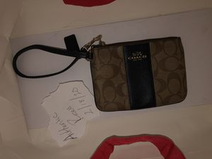 Womens Coach Brown Canvas Wristlet for Sale in Central Islip, NY