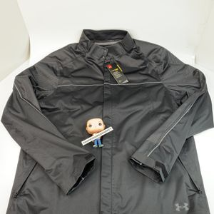 [L] Under Armour UA Golf Men's Waterproof Stormproof Jacket 1347426-001 $130 for Sale in Euless, TX