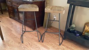 West elm bar stools wood set $80 for Sale in Paramount, CA