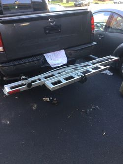 Aluminum Dirt Bike Motorcycle Tow Hitch Carrier Rack- 450 pound capacity approximately for Sale in Chantilly,  VA