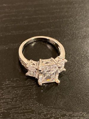 Stamped 925 Sterling Silver Diamond Ring- Code SD33 for Sale in Houston, TX