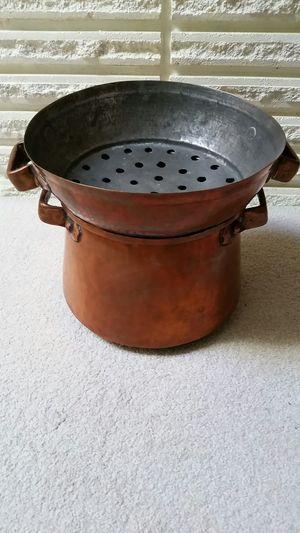 Copper Pot with Steamer for Sale in Auburn, WA