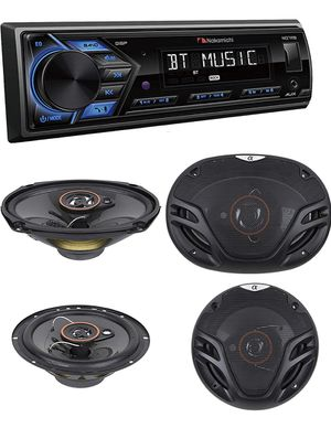 BUNDLES Nakamichi NQ711B Built-in Bluetooth Hands-Free Calling Music Streaming USB AUX Inputs Detachable Face Car Digital Media MP3 Player Stereo Rec for Sale in Gardena, CA
