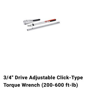 Snap on 3/4 torque wrench for Sale in Union City, CA