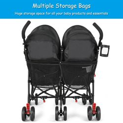 Foldable Twin Baby Double Stroller Ultralight Umbrella Kids Stroller for Sale in Wildomar,  CA
