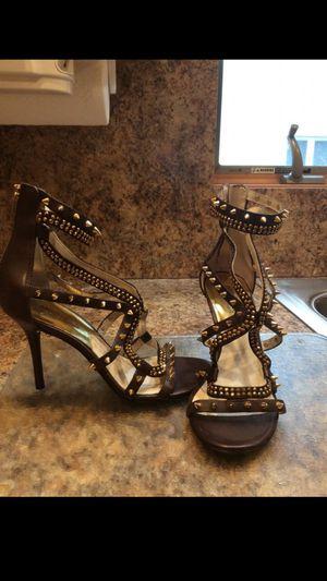 Michael Kors MK Leather shoes Brown spiked heels never worn size 7 for Sale in Elizabeth, NJ