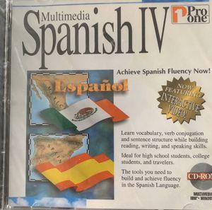 MULTIMEDIA SPANISH IV SPANISH FLUENCY NOW! PRO ONE CD-ROM NEW! SEALED! for Sale in Herndon, VA