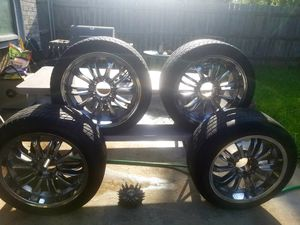 20 inch Rims & Tires 6 Lugs for Sale in Fort Worth, TX