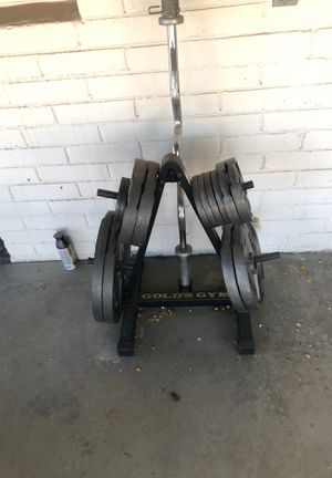 255 lbs weight set + tree + curling bar for Sale in Phoenix, AZ
