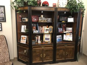 Gorgeous bookshelves, wood and glass for Sale in Winter Park, FL