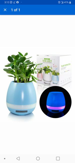 Smart Music Flower Pot Light Bluetooth Speaker Bluetooth Piano blue for Sale in Los Angeles, CA