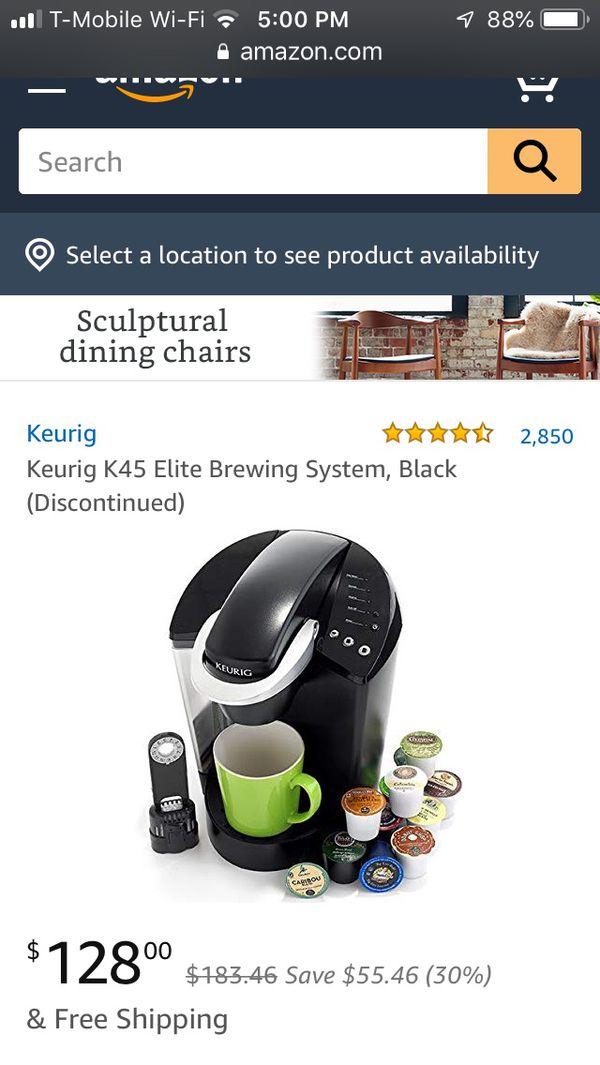 Keurig K45 elite 12 cup plus coffee pod drawer